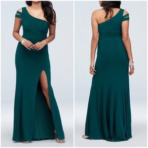 Emerald Green Crepe Gown